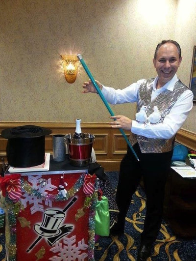 holiday magic show for Christmas or Hanukkah parties