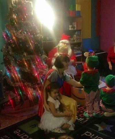costumed Christmas characters for kid's party